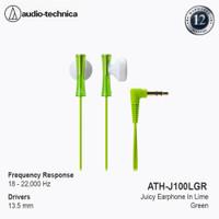 Audio-Technica ATH-J100LGR Juicy Earphone Lime Green