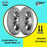 Paket Ban Motor Matic // ZENEOS ZN88 70/80 - 80/80 Ring 14 Tubeless