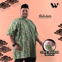 WGB Koko Batik Pendek Pria Akhdur Big Size Ukuran Besar Jumbo XXL XXXL