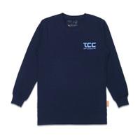 T-shirt - Bahan Katun - Thinkcookcook - Ls On Progres - Biru Dongker