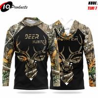 Baju Hoodie camo hunting realtree gambar rusa dan Babi, baju panjang