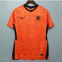 Jersey Kaos Baju Sepak Bola Timnas Netherlands Belanda Home Oren 2021