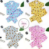 Baju tidur anak perempuan 3~9thn Flaminggo Bee Katun Premium