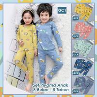 Piyama Anak Laki laki Perempuan Setelan Baju Tidur Lengan Panjang 1-8t