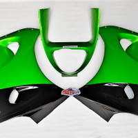 fairing bawah ninja rr zx kiri kanan v grill hijau metalik