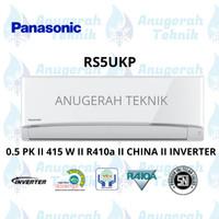 AC SPLIT PANASONIC 0.5 PK 0.5 PK R410a INVERTER - RS5UKP