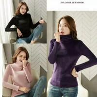 Baju Long John Wanita Turtleneck Atasan thermal winter musim dingin 04