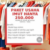 Paket Usaha Imut Thrift Baju Blouse Kemeja Import Branded Preloved