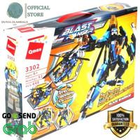 DO Robot Block Qman Blast Ranger Helicopter Mainan Edukasi Anak