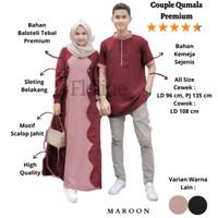 Floline Ols - Couple Qumala / Baju Gamis Wanita / Kemeja Koko Pria