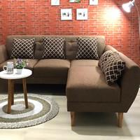 sofa , sofa l putus , sofa retro - hazelnut