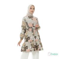 Atasan Muslim Wanita   Ariana Tunik Cream  S M L XL   Tazkia Hijab