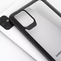 Case Anticrack Akrilik Fuze Black Redmi Note 8 9 9S Pro Max