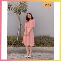 baju dress pesta anak 16-22thn perempuan remaja melly gaun pink