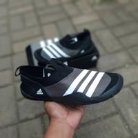Sepatu Adidas Climacool Jawpaw Black Grey White Slip On