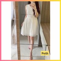 baju dress pesta anak 16-22thn perempuan remaja yeon blus gaun putih