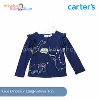 Carter's Blue Dinosaur Long Sleeve top Baju atasan panjang Carter
