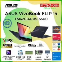 ASUS VIVOBOOK FLIP TM420UA RYZEN 5-5500U 8GB 512GB 14 FHD OHS W10