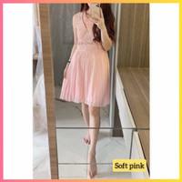 baju dress pesta anak 16-22thn perempuan remaja yeon blus gaun pink