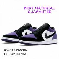 Sepatu Nike Jordan 1 Low UA/PK Court Purple ORIGINAL MATERIAL Casual