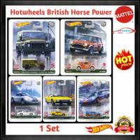 Hotwheels Retro Premium British Horse Power Car Culture Ban Karet