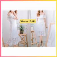 baju dress pesta anak 16-22thn perempuan remaja chonhe gaun putih