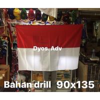 bendera merah putih bahan drill bendera merah putih drill 90X135