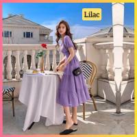 baju dress pesta anak 16-22thn perempuan remaja millea gaun lilac