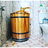 Bak mandi Gentong Air Kayu Jati T60