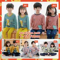 Piyama Anak kekinian/baju tidur Anak import umur 1-10thn/bahan premium