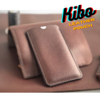 Leather Pouch Hp Iphone 7 / Samsung / android custom size