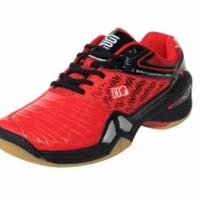 Sepatu Badminton Anak HiQua grandprix junior Ori Hitam Ukuran 33 - 37