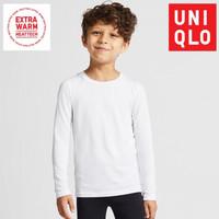 Kaos Uniqlo Anak T-Shirt Crew Neck Lengan Panjang Extra Warm Original