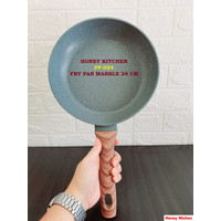 HONEY KITCHEN MARBLE FRY PAN 24 CM GRANIT WAJAN PENGGORENGAN NON STICK