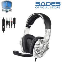 Headset Gaming Multiplatform Sades 708GT Camo