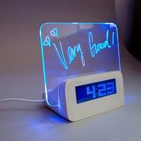 Jam Digital LED Memo Board / Jam Meja Digital Memo / Jam Meja LED - TANPA BATERAI