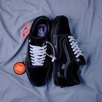 Sepatu Vans Old Skool Pro Skate All Black BNIB Original Premium Import