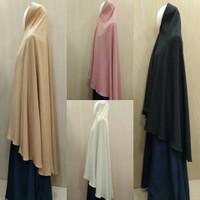Hijab Wollycrepe Softpad Antem Syari XL dan XXL Jumbo Part 1