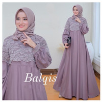 BALQIS DRESS BRUKAT | BAJU KONDANGAN MUSLIM KEKINIAN
