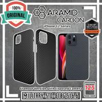 Case iPhone 12 Mini 12 Pro Max Aramid Carbon Fiber Glamour Original