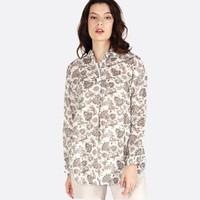Kemeja Wanita Lengan Panjang / Ariana Cream Shirt 24434T5CM - Bodytalk