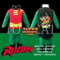 Baju Kostum Anak Karakter Superhero Robin Setelan Halloween
