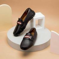 Sepatu Bally original - Bally paipel loafer black red lp