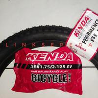 Ban Luar Dalam 16 X 2 125 2125 Sepeda Listrik Selis Anak Kenda 16X2125
