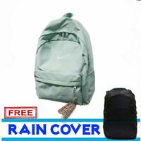 tas punggung pria / backpack pria nik polos - Biru Muda