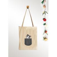 Tas Totebag wanita Kanvas Murah / Tas Tote Bag Wanita Pria kucing