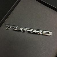 Stiker Turbo Mobil Motor Emblem 3D Zinc Alloy Electroplating - Putih