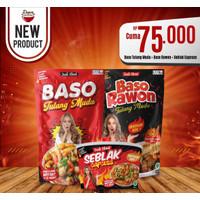 Mix 3 Item Baso Rawon, Baso Pedas Tulang Muda dan Seblak Capcuss Jenk