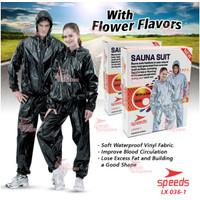 Murah!Baju Sauna Suit One Set Jaket&Celana Origina lWarna Hitam Speeds