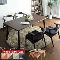 set meja makan dining table minimalis kayu jati jepara - K4, 100x70cm